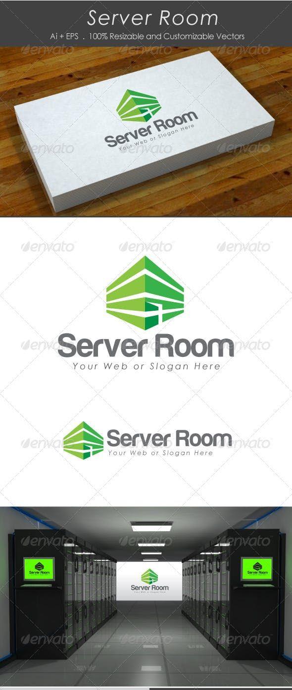 Room Design Layout Templates: Server Room, Building Logo, Logo Design