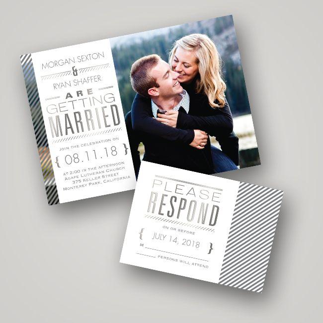Wedding Invitation Ideas: Foil-Pressed Invitations