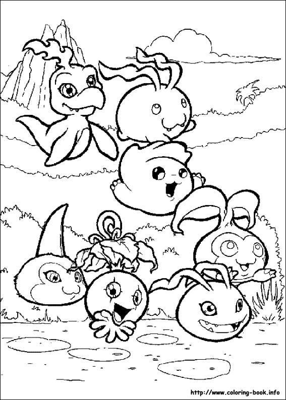 all the digimon babies from season 1 coloring page