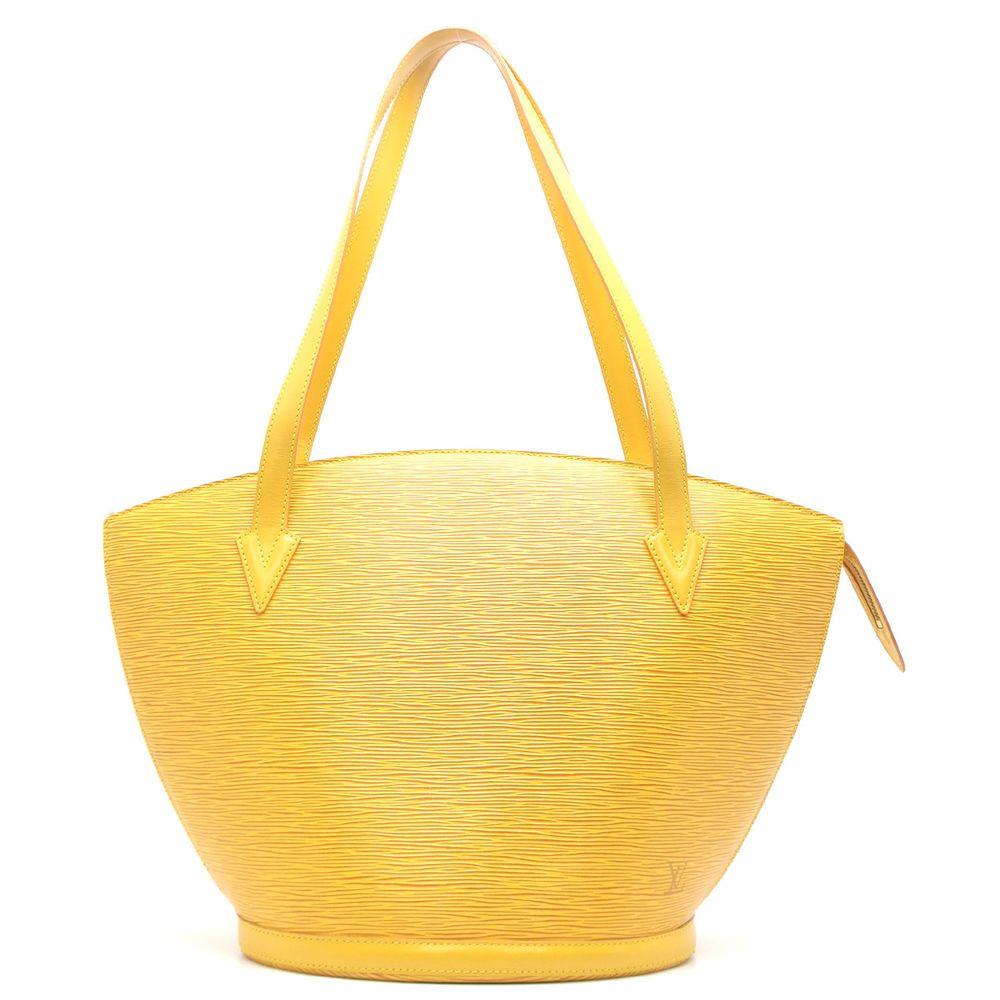 9acdbff94ccd Auth Louis Vuitton Yellow Epi Leather Saint Jacques Shoulder Bag M52269   DH46010  fashion