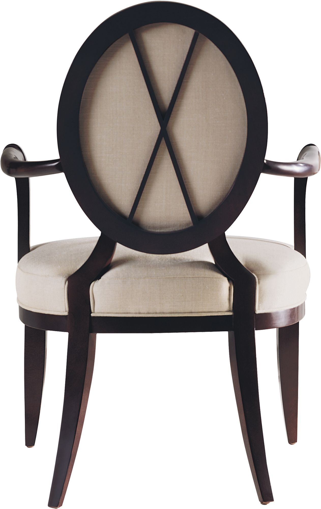 Shop for Baker Oval X Back Dining Arm Chair 3441 and other