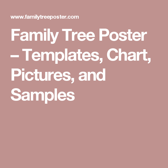 Family Tree Poster  Templates Chart Pictures And Samples