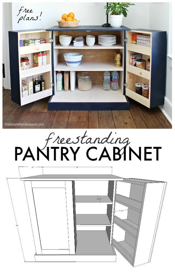 freestanding pantry cabinet free plans #pantrycabinet
