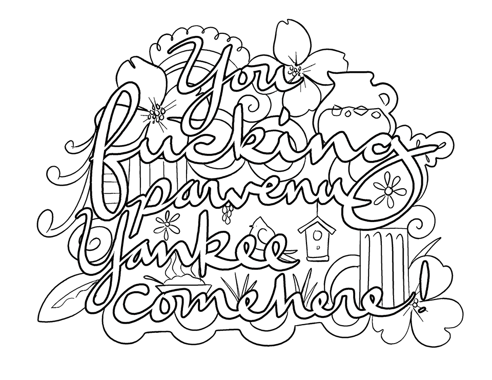 Pin On Swear Words Adult Coloring Pages