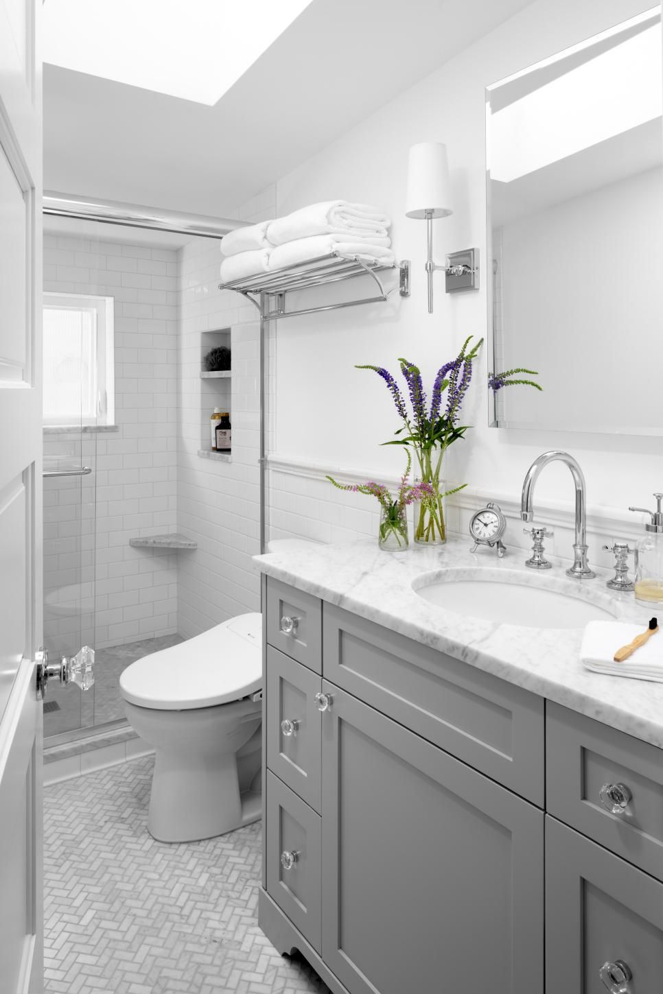 6 Design Trends This Designer Wishes Would End Hgtv Gray And White Bathroom Small Grey Bathrooms Bathroom Design Hgtv bathrooms design ideas