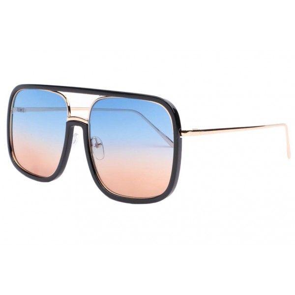 Lunettes de Soleil Tendance Sun Sunglasses , Marron / Marron