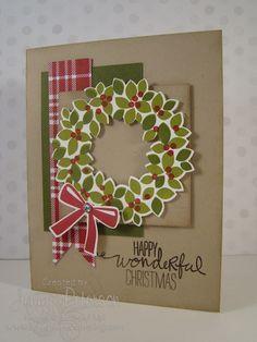Wondrous Wreath stamp set, Wonderful Wreath Framelit Die, Christmas, Stampin' Up! Demonstrator, Jenny M Peterson, Stampin' Up!, Lakeshore Stamping