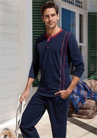 Yeni İnci EPJ-456 Erkek Pijama Takım - Lacivert