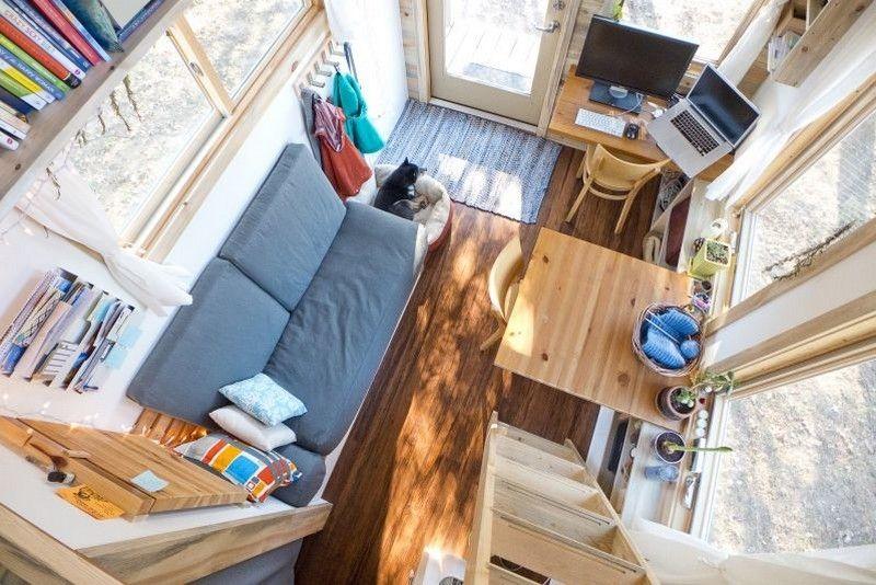 Attraktiv Kleine Räume Einrichten   Wohnzimmer In Einem Minihaus