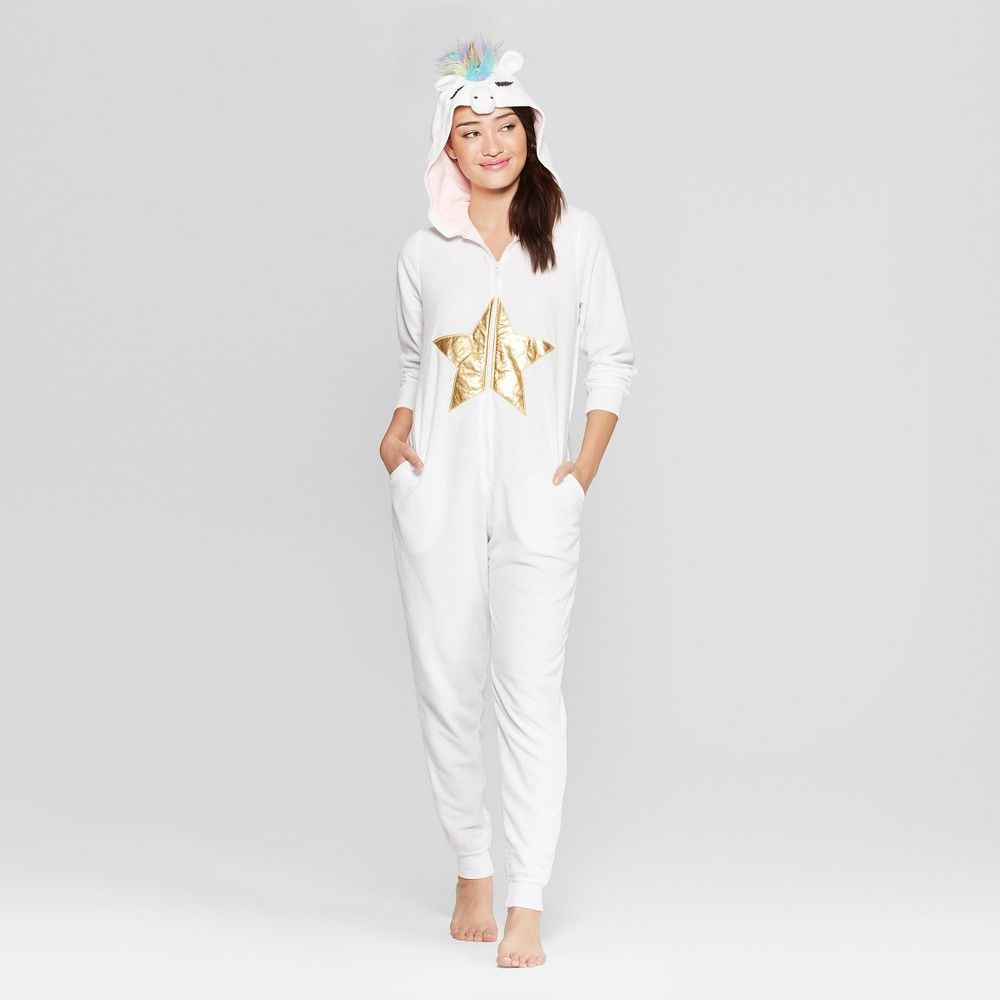8eae9be71934 Pattern: Solid. Material: Polyester.. Women's Unicorn Union Suit -  Xhilaration White XS/S #Apparel #Sleepwear #OnePieceSleepwear #UnionSuits