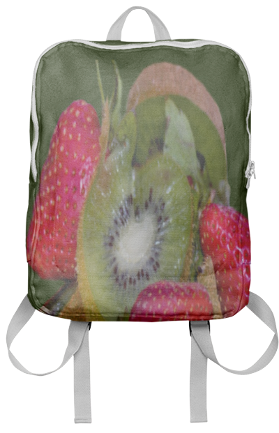 Strawberries and Kiwis Backpack - Great tasting fruits Kiwis and Strawberries they also have great color combinations.