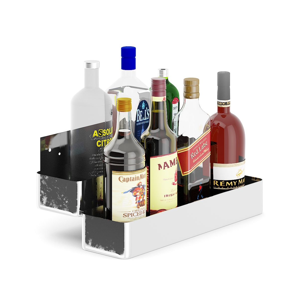 Metal Shelf with Bottles #Metal, #Shelf, #Bottles | Product