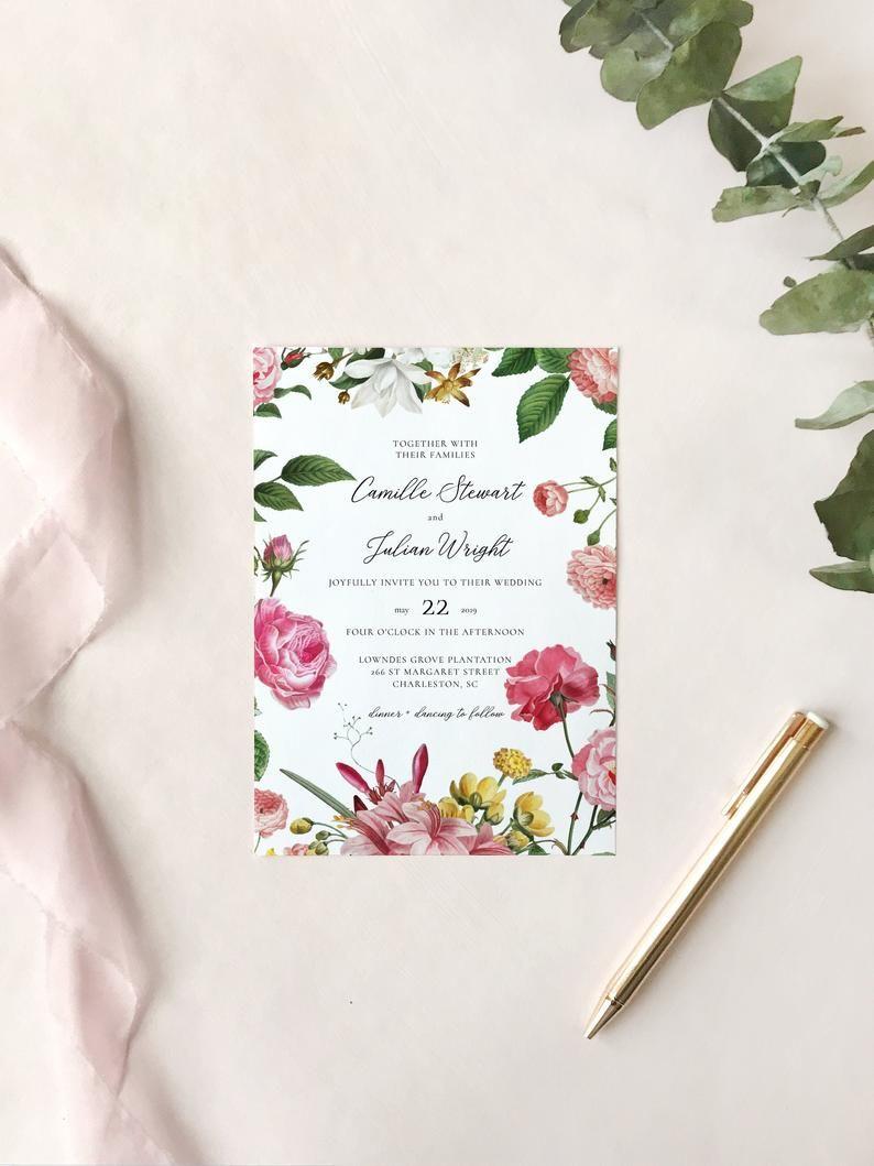Deposit Camille Wedding Invitation