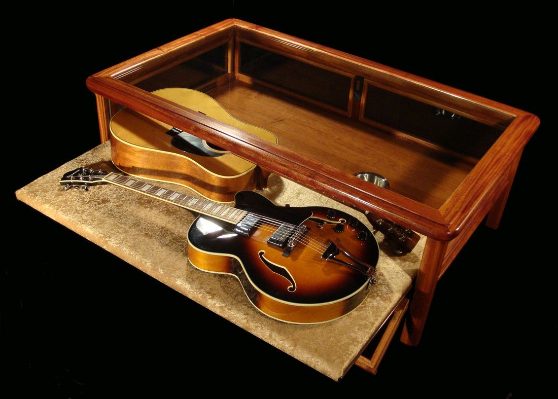 Guitar display cases google search rooms guitar for How to build a coffee table display case