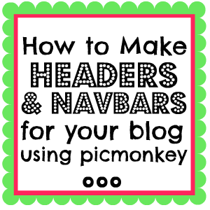Something Swanky: 2 Different Ways to Make a Custom Header and Navbar for Your Blog