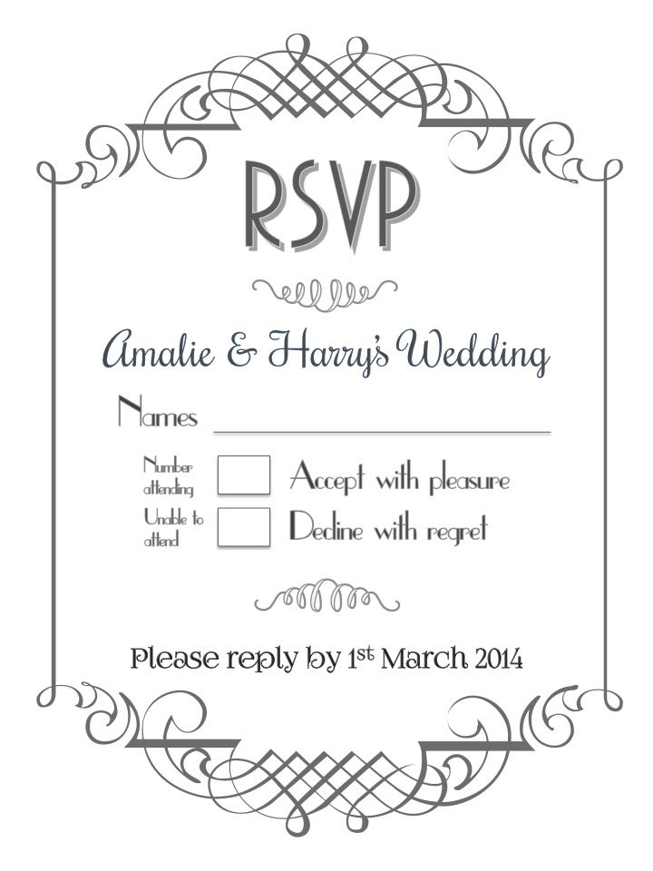formal wedding rsvp in white for more information different styles