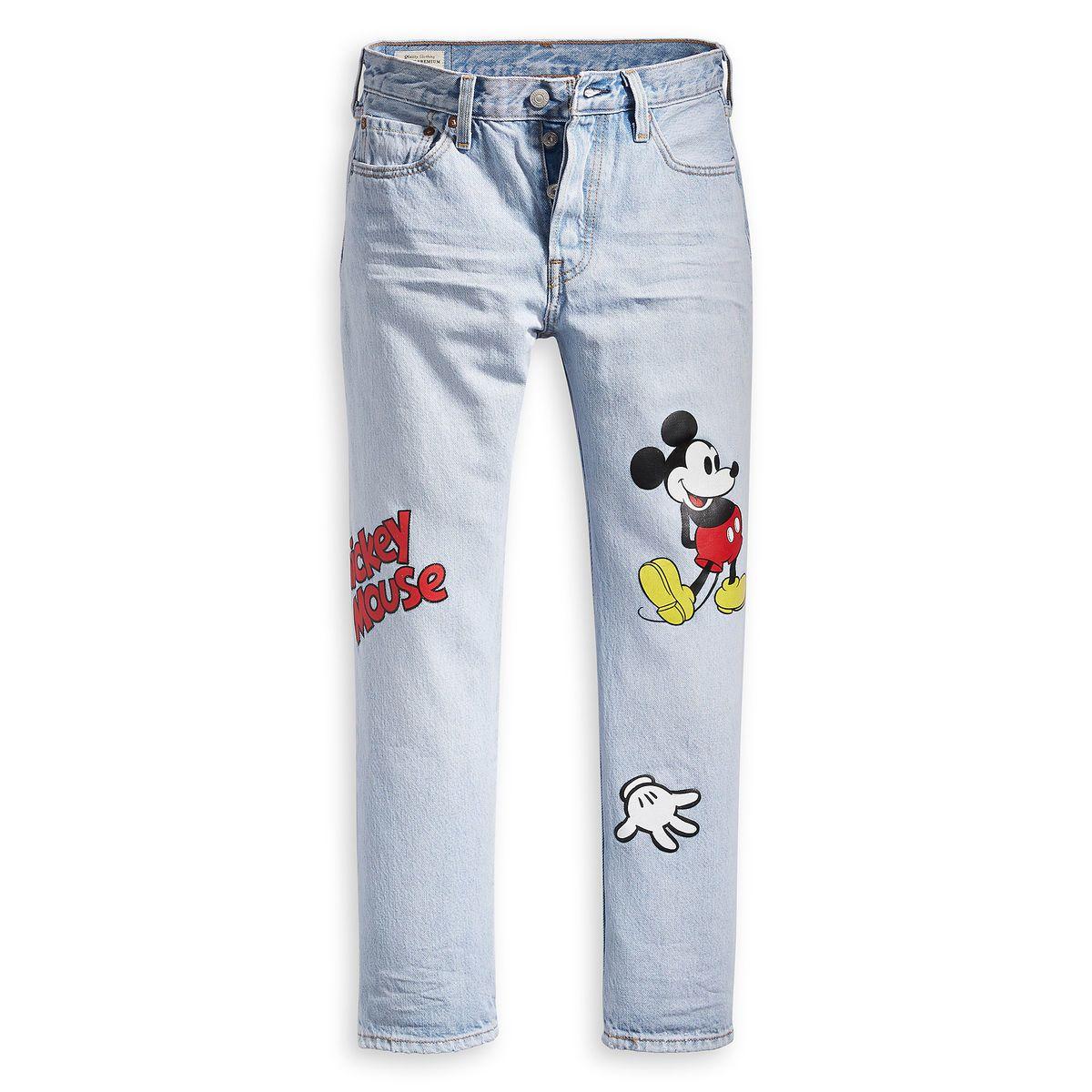 pantalon demin estampado mickey zara
