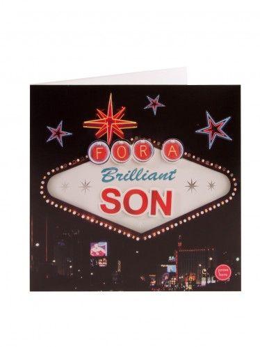 Light Up Las Vegas Birthday Card