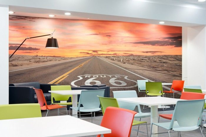 Enterprise Rent A Car S Emea Headquarters Office Snapshots Enterprise Rent A Car Office Wall Graphics Workspace Design