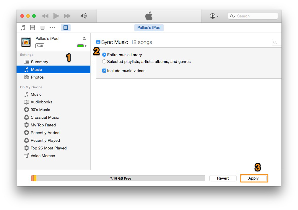 how to copy from ipod to itunes library