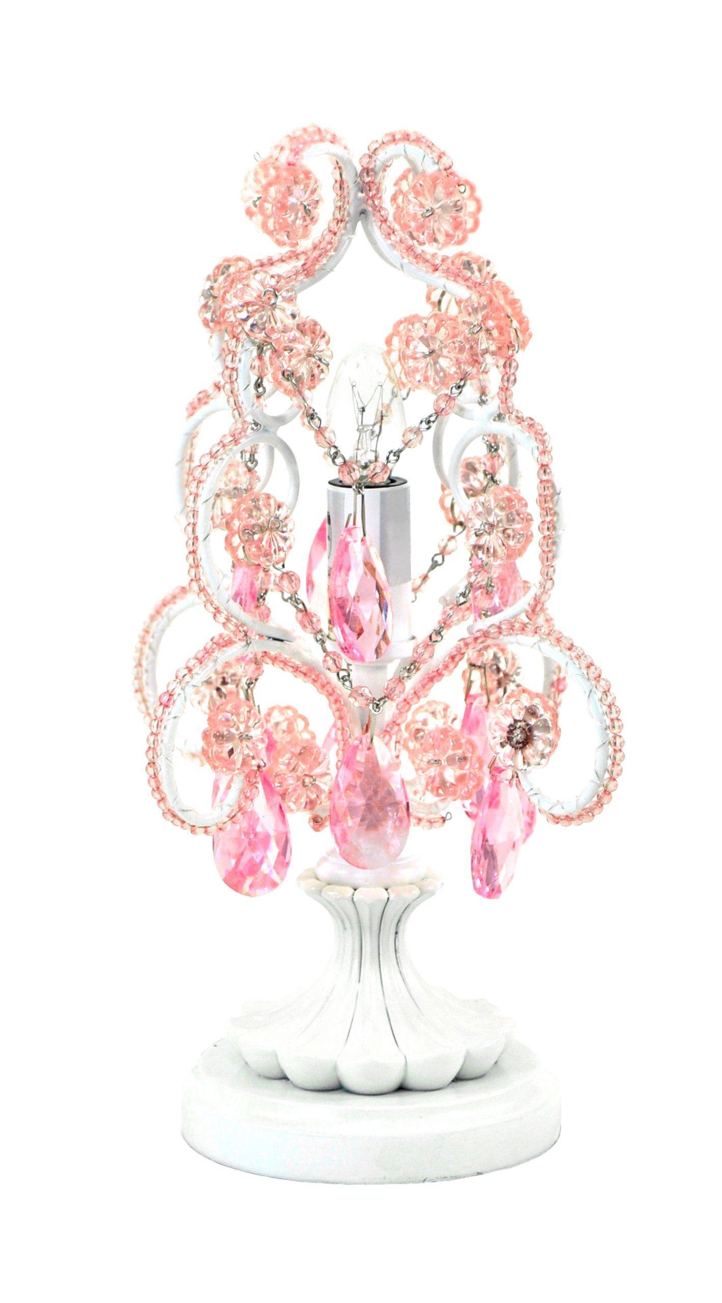 Com Tadpoles Mini Chandelier Table Lamp Pink Baby