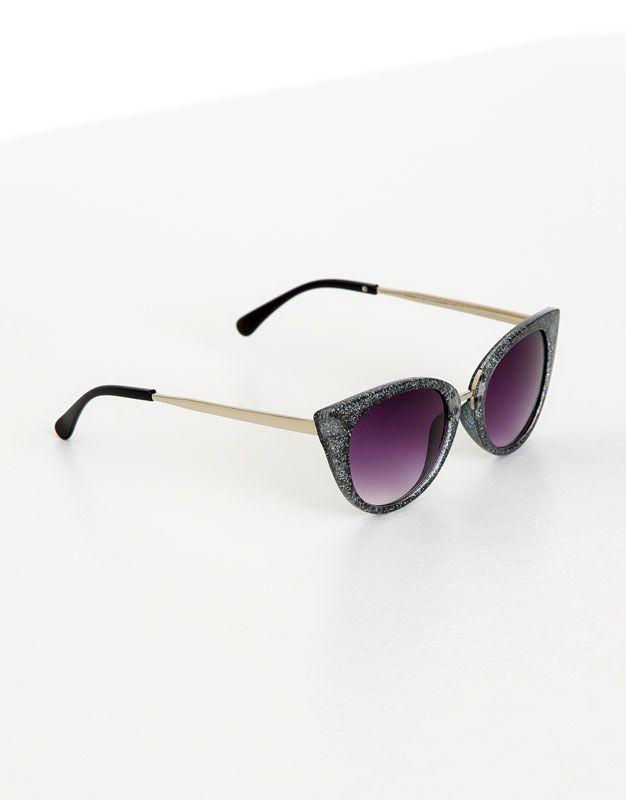 cbc4f6955e3 Glitter cat-eye glasses
