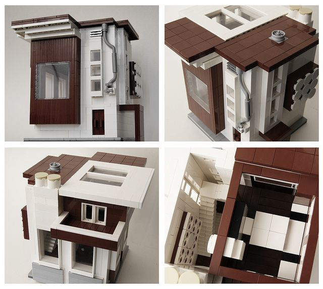 Mini Modern Residence 2 Lego House Lego Furniture Legos