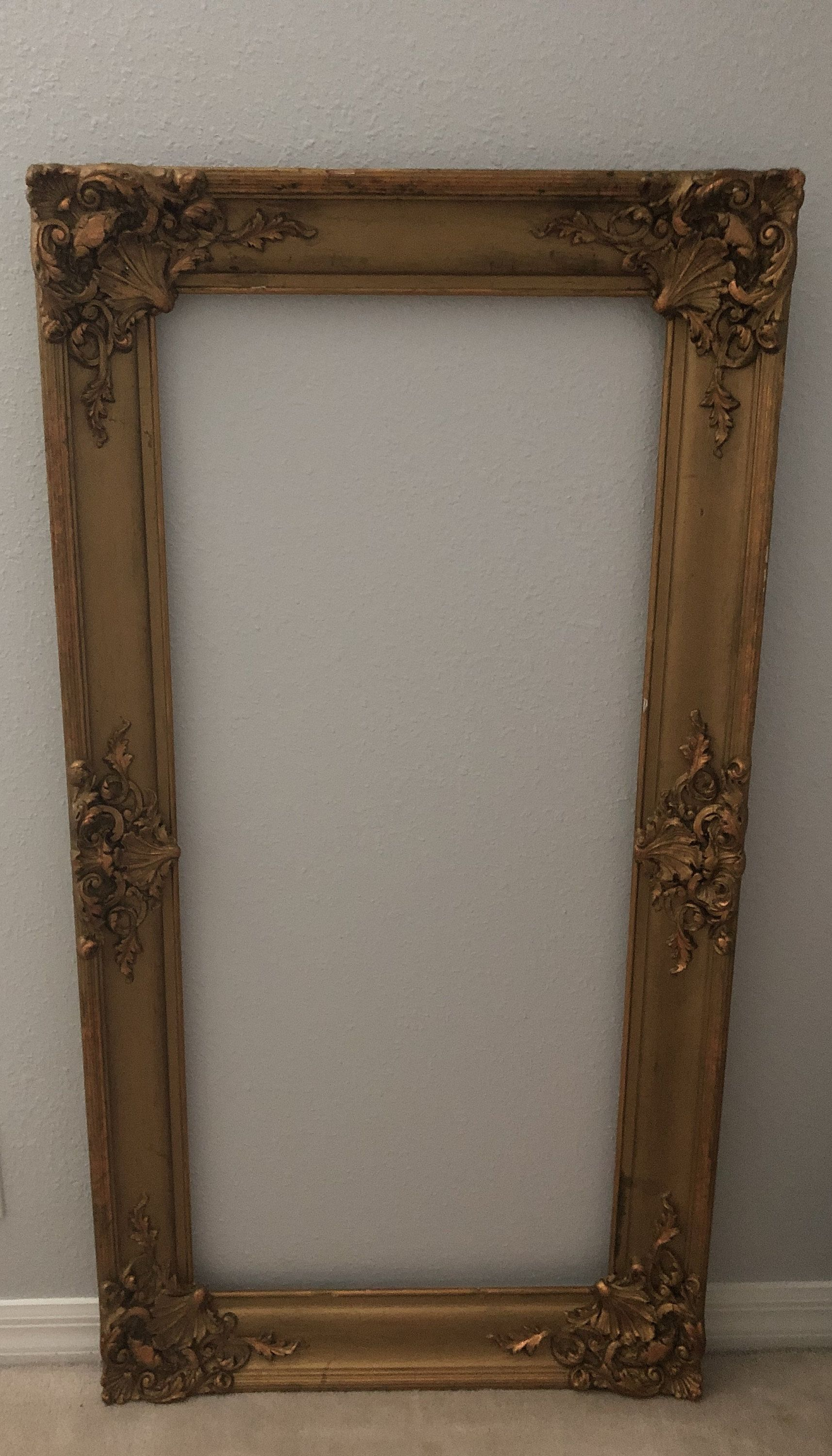 Large Antique Victorian Frame Rococo Baroque Mirror Frame Ornate Mirror Frame Gilded Wood And Gesso Antique Mirror Frame Large Antique Mirror Baroque Mirror