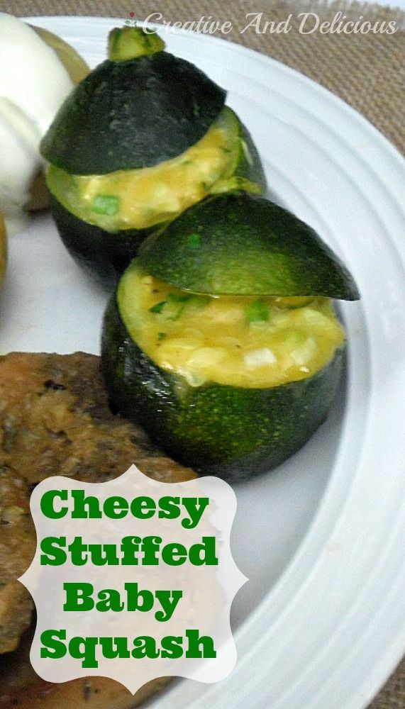 Cheesy Stuffed Baby Squash Recipe Dishes Foods And Veggies