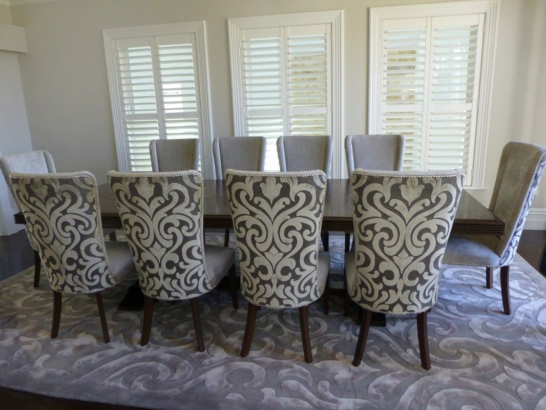 Captivating Parquetry Dining Table With Upholstered Dining Chairs, 2227