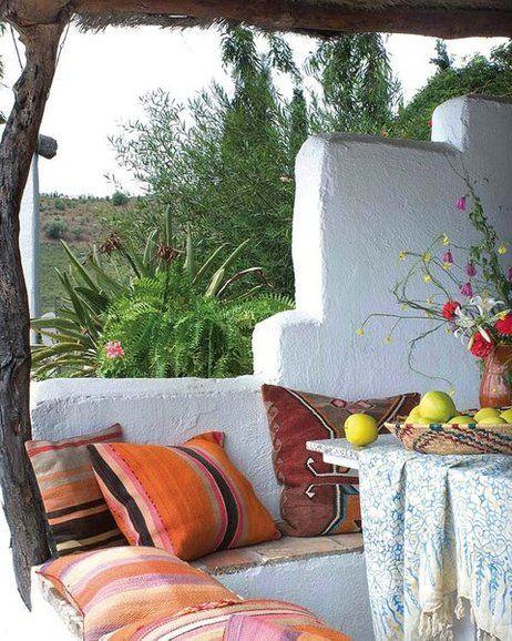 Terrazas decoradas salimos fuera las terrazas for Banco para terraza