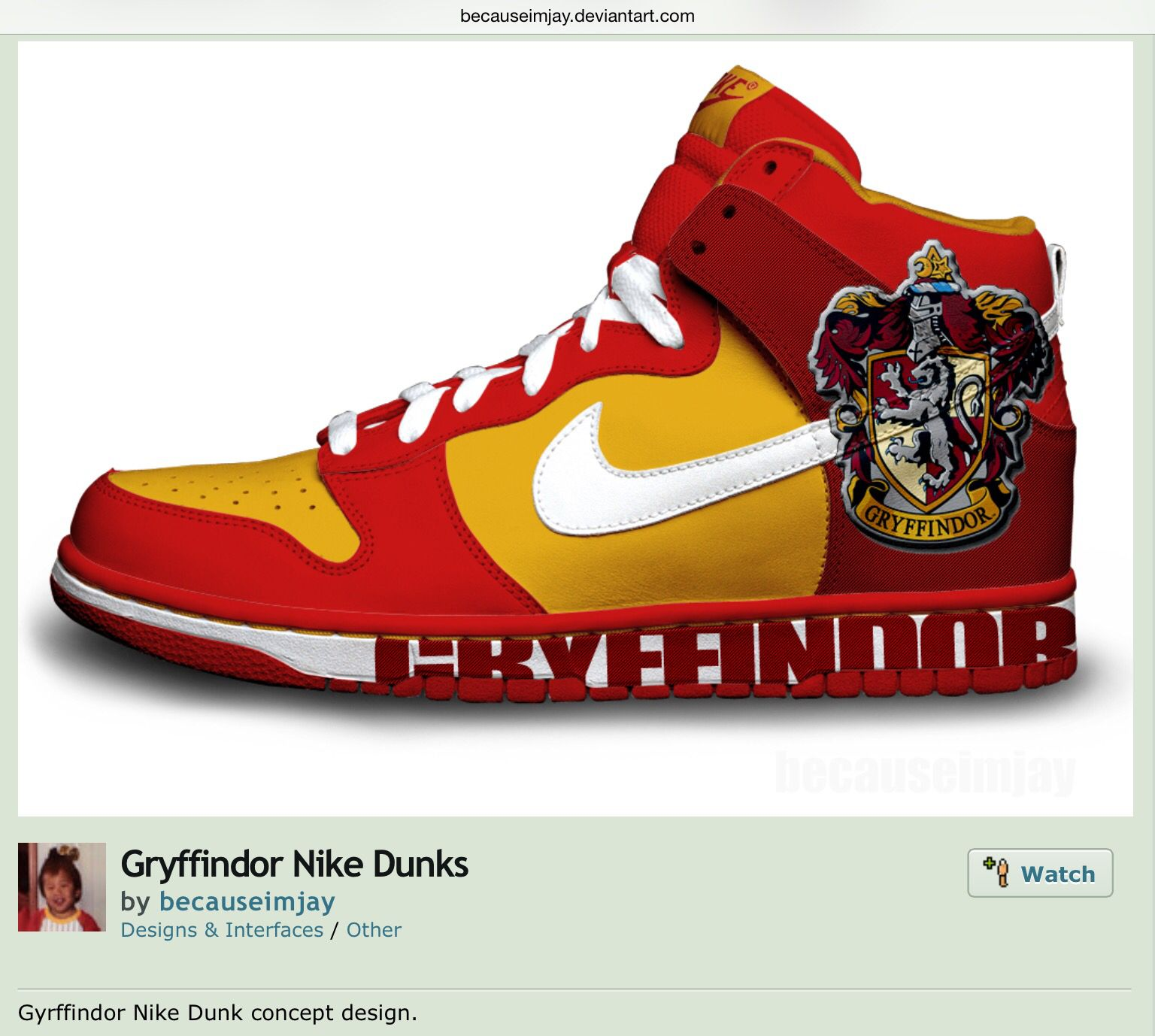 Gryffindor Nike Dunks - Shoes - concept design - Harry Potter ... 583d0f93d
