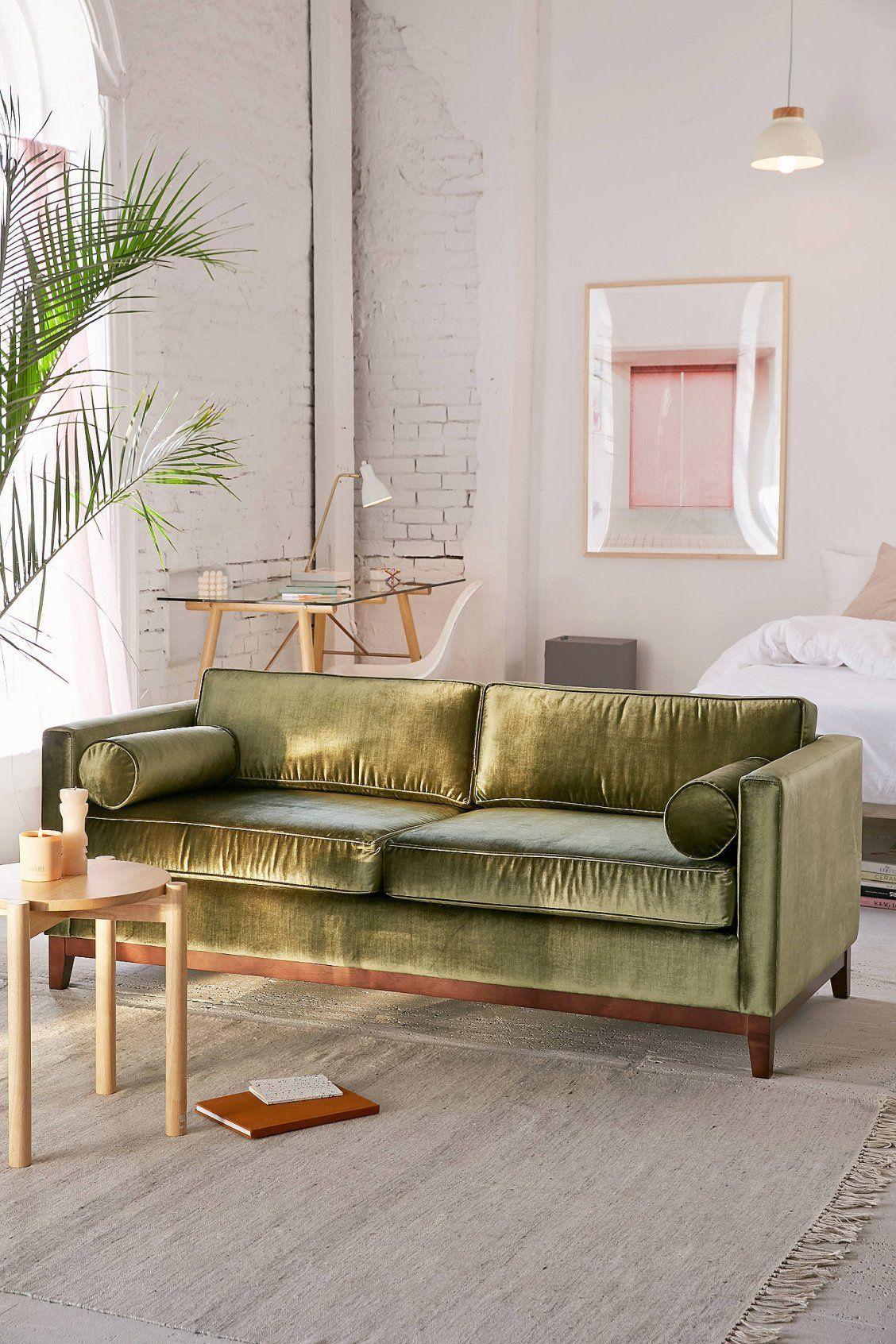 Piper Petite Velvet Sofa Licht Beige Sofa Living Room Velvet Sofa Living Room Living Room Sofa Petite furniture living room