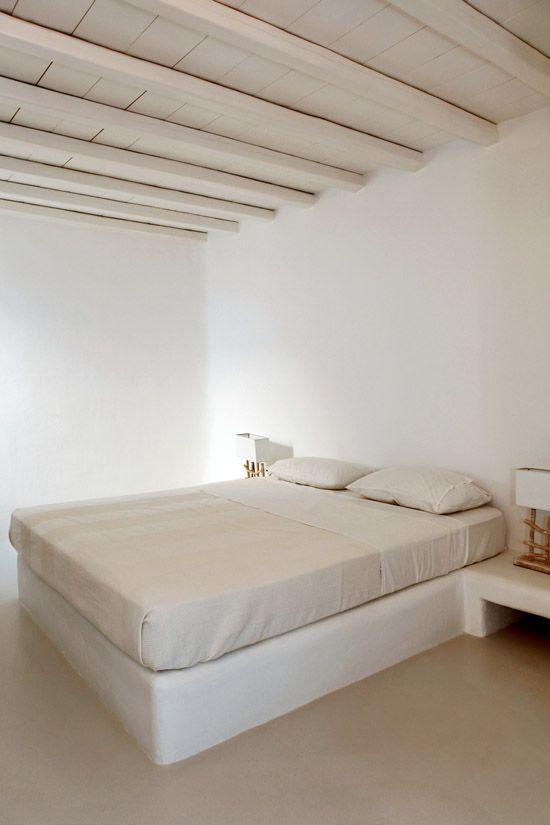 Elia White Residence In Mykonos Cob House Interior Bed Design