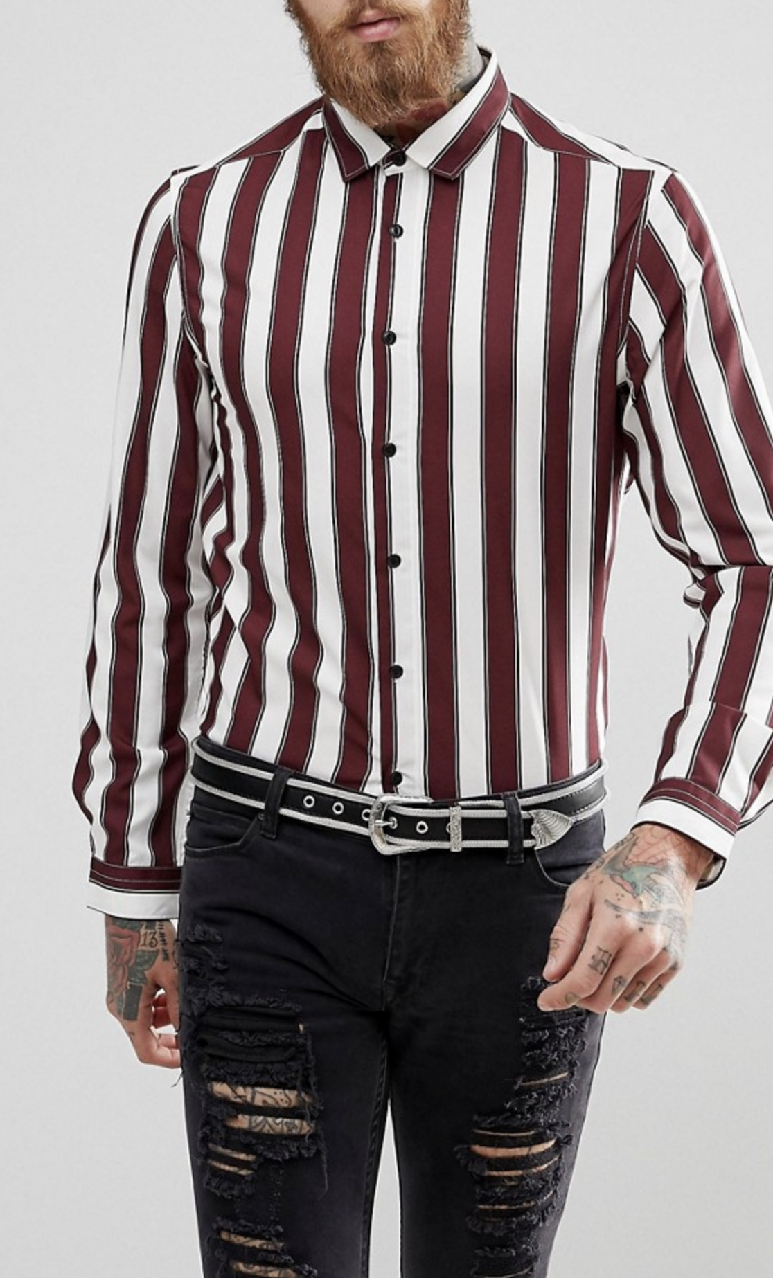 5866dfa2eb3 On my wish list   ASOS Regular Fit Stripe Shirt from ASOS  ad  men  fashion   shopping  outfit  inspiration  style  streetstyle  fall  winter  spring   summer ...