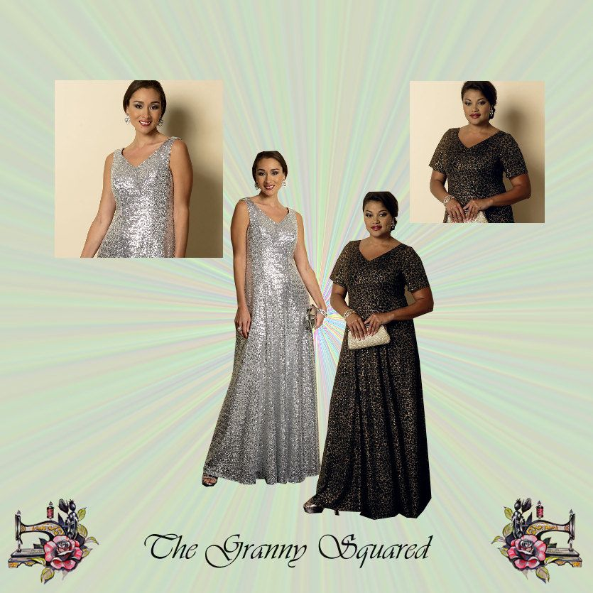 Plus Size Evening Or Formal Dress With Princess Seams And Sleeve