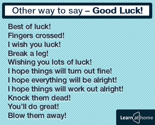 other way to say good luck best of luck fingers crossed i