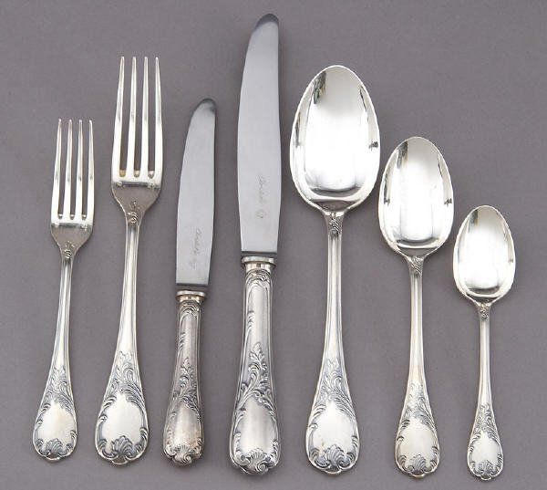 Golden Scroll by Gorham Sterling Silver Place Size Place Setting s 4pc