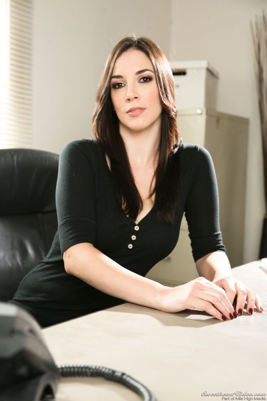 Jelena Jensen Is The Stripping Office Babe  Beauties-1616