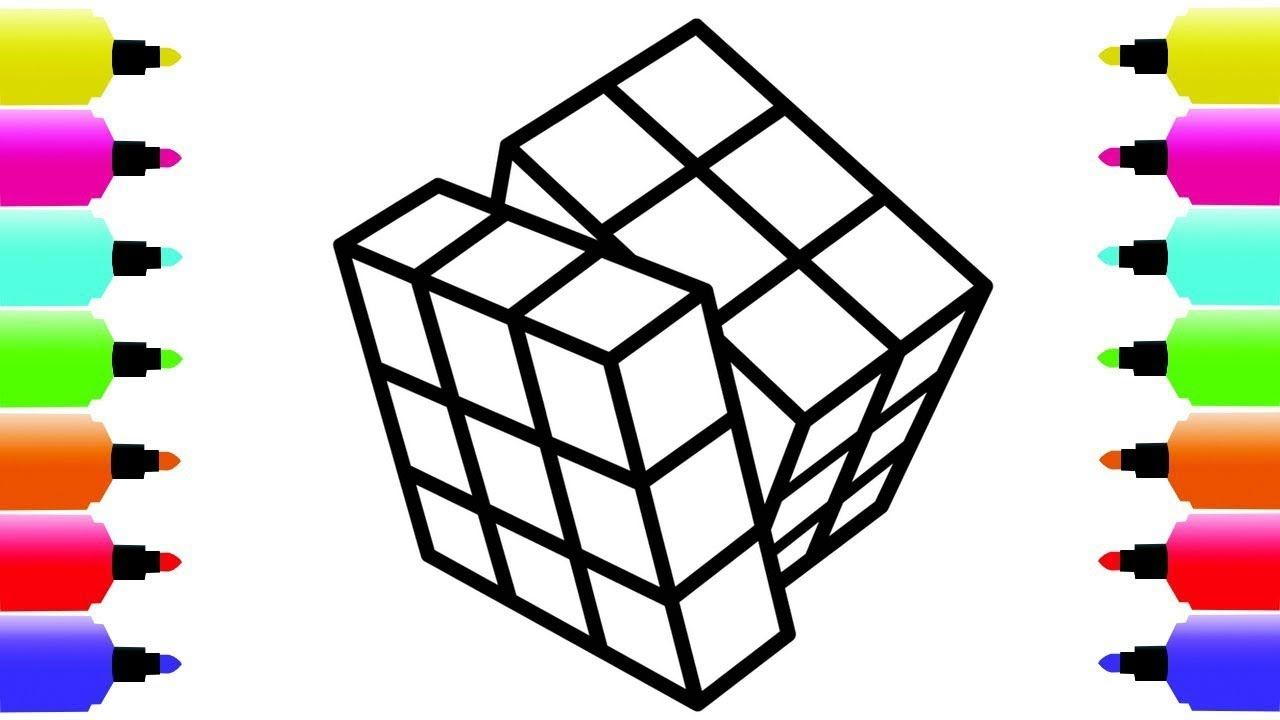 Rubik S Cube Coloring Pages For Kids Babies Children How To