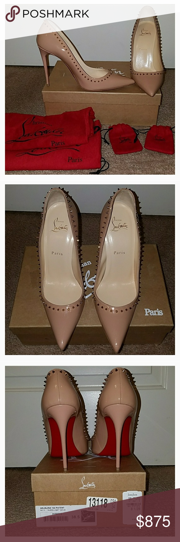 pretty nice 12f89 fe668 Authentic Louboutin Anjalina 100 Patent pumps Authentic ...
