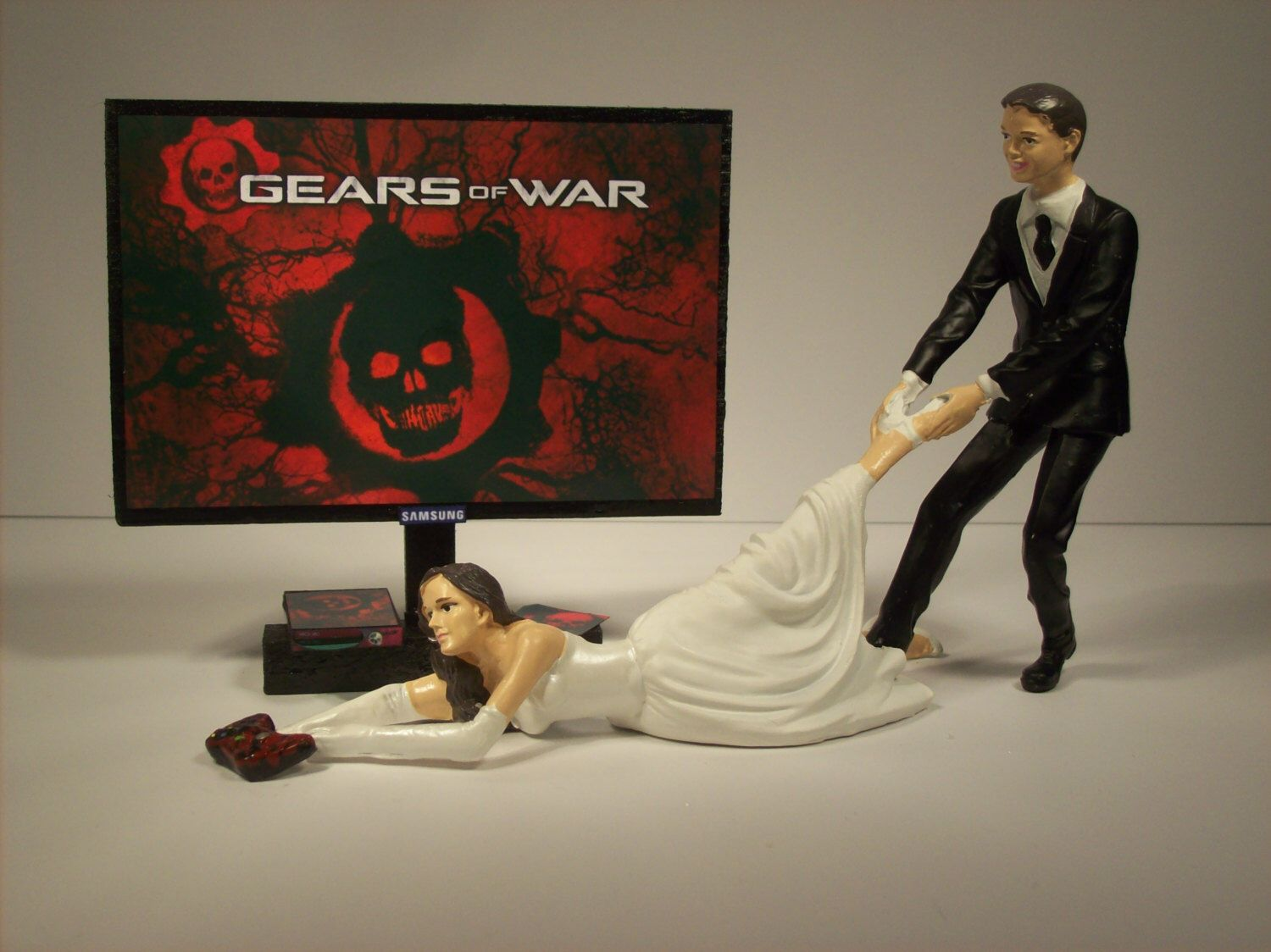 funny wedding cake toppers xbox gamer gears of war xbox handmade bundle and 14610