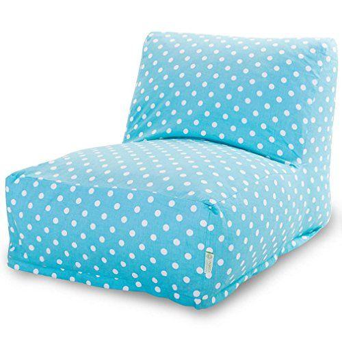 Lovely Majestic Home Goods Aquamarine Small Polka Dot Bean Bag Chair Lounger