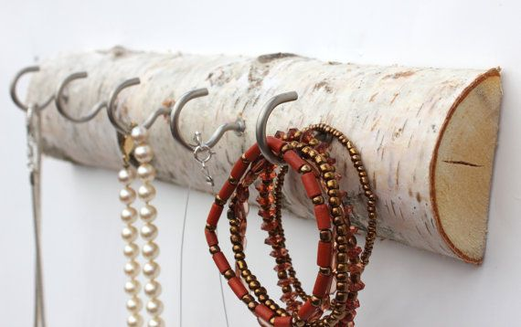 rustic birch necklace display by kateblais on Etsy, $15.00