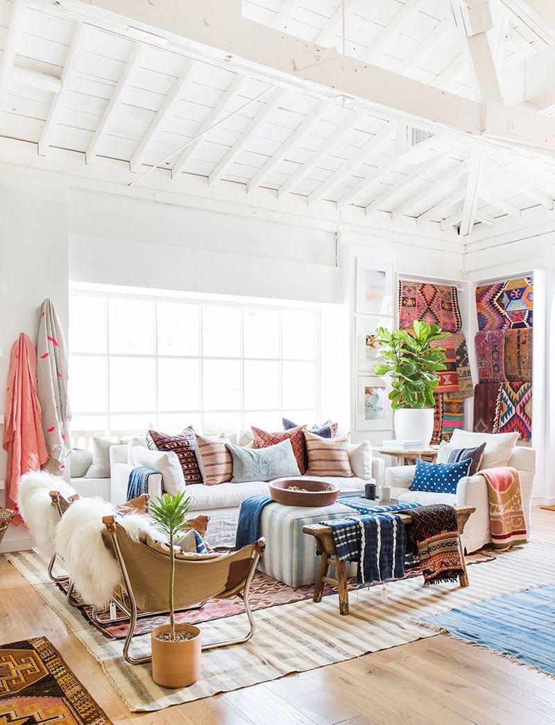 Get The Look Boho Beach Boho Living Room Bohemian Living Rooms