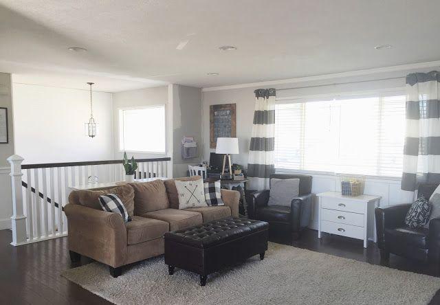 Keep Home Simple Our Split Level Fixer Upper Living Room LayoutsLiving IdeasLiving