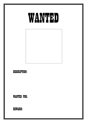 Wanted Poster Template | School & education ideas | Pinterest ...