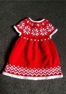860566f09ed5 baby girl fairisle dress colour-work dress knitting pattern christmas