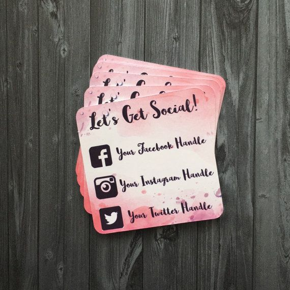 Custom Social Media Cards This Is The New Business Card Especially For Online Seller Social Media Business Cards Social Media Packages Square Business Cards