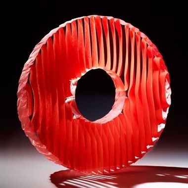 Colour Saturation: Ring of Fire by Colin Reid. 2013. Kiln-cast glass.